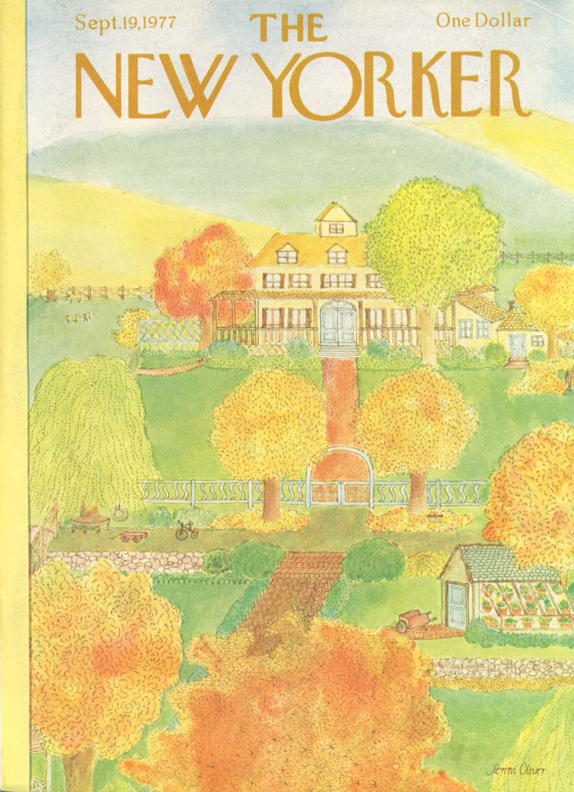 Image for New Yorker cover Oliver start fall color 9/19 1977