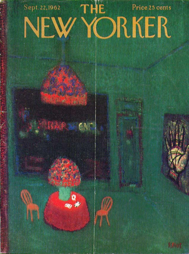 Image for New Yorker cover Kraus dark room palm reader 9/22 1962
