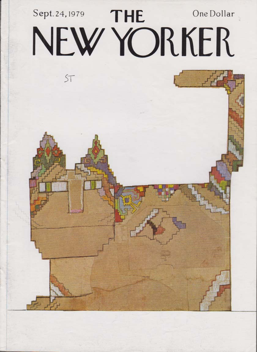 Image for New Yorker cover Steinberg mosaic square cat 9/24 1979