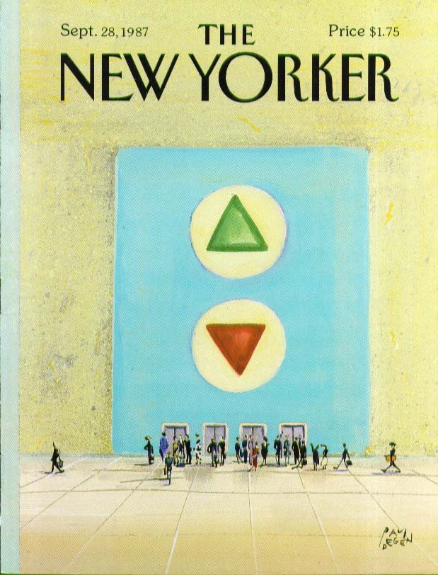 Image for New Yorker cover Degen UP & DOWN buttons 9/28 1987