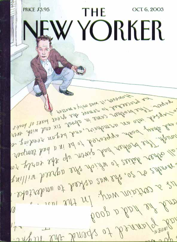 Image for New Yorker cover Barry Blitt author writes himself into corner 10/6 2003