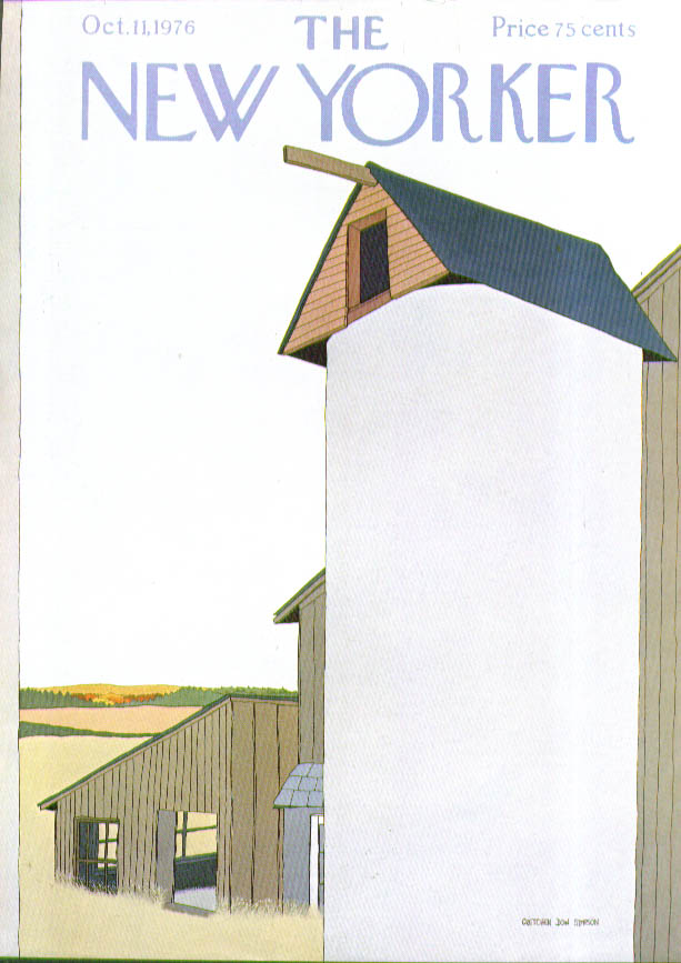Image for New Yorker cover Simpson silo on rural farm 10/11 1976