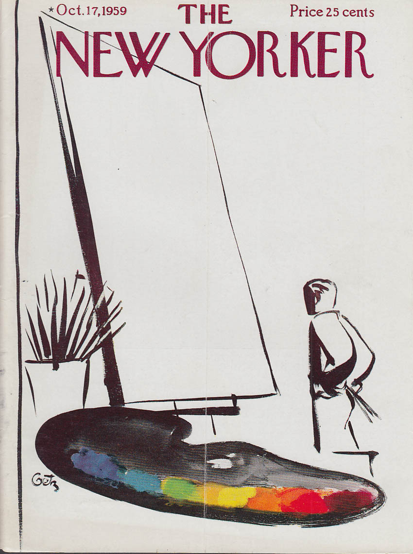Image for New Yorker cover Getz blank canvas 10/17 1959