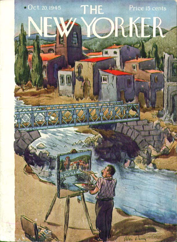 Image for New Yorker cover Dunn artist landscape 10/21 1945