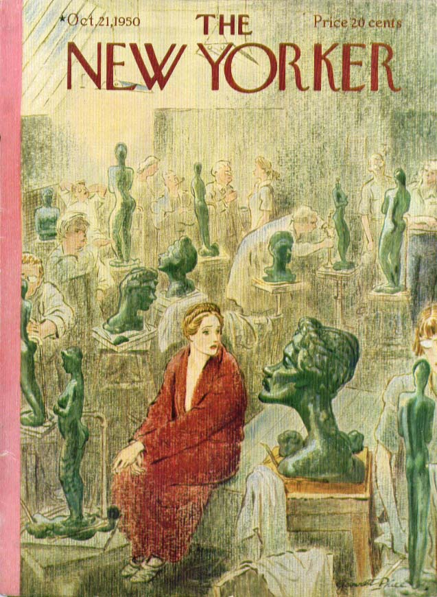 Image for New Yorker cover Price sculpture art class 10/21 1950