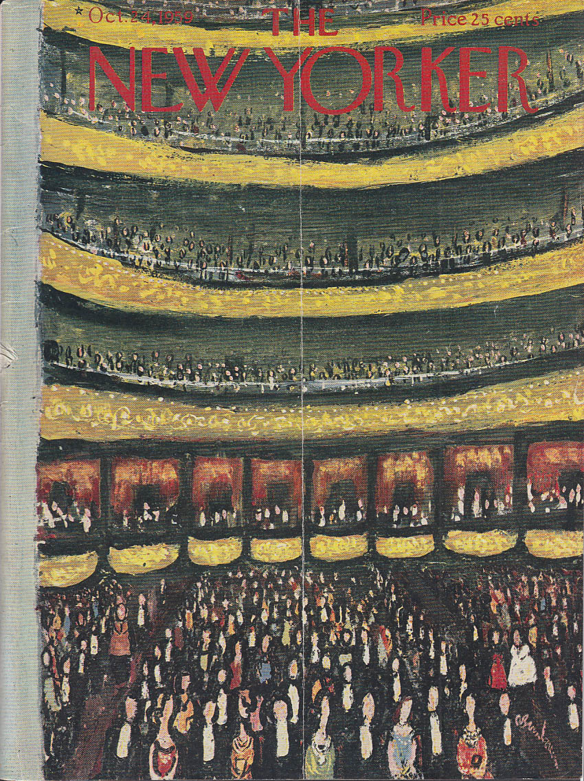 Image for New Yorker cover Birnbaum Carnegie Hall 10/24 1959