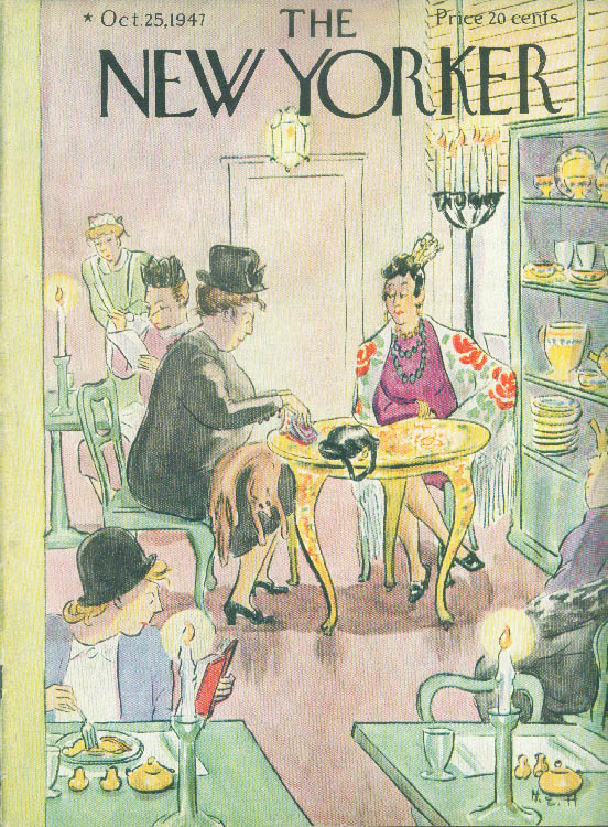 Image for New Yorker cover Hokinson women restaurant 10/25 1947