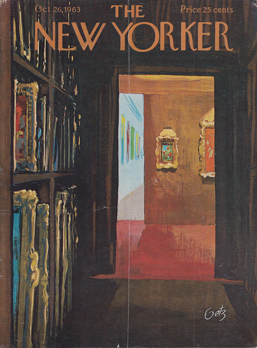 Image for New Yorker cover Getz art gallery storage 10/26 1963