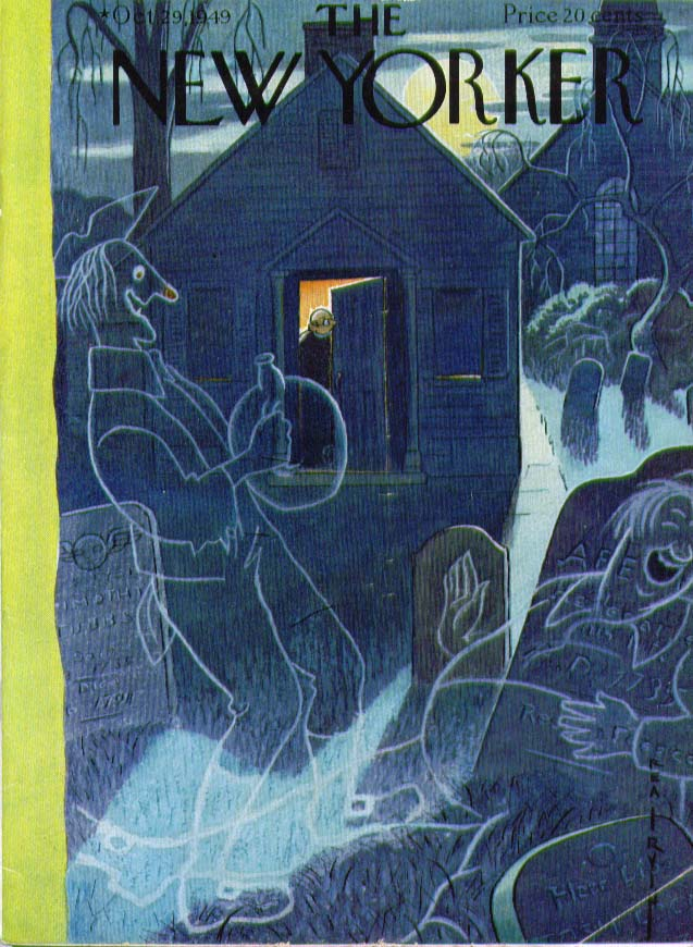 Image for New Yorker cover Irvin graveyard ghosts 10/29 1949