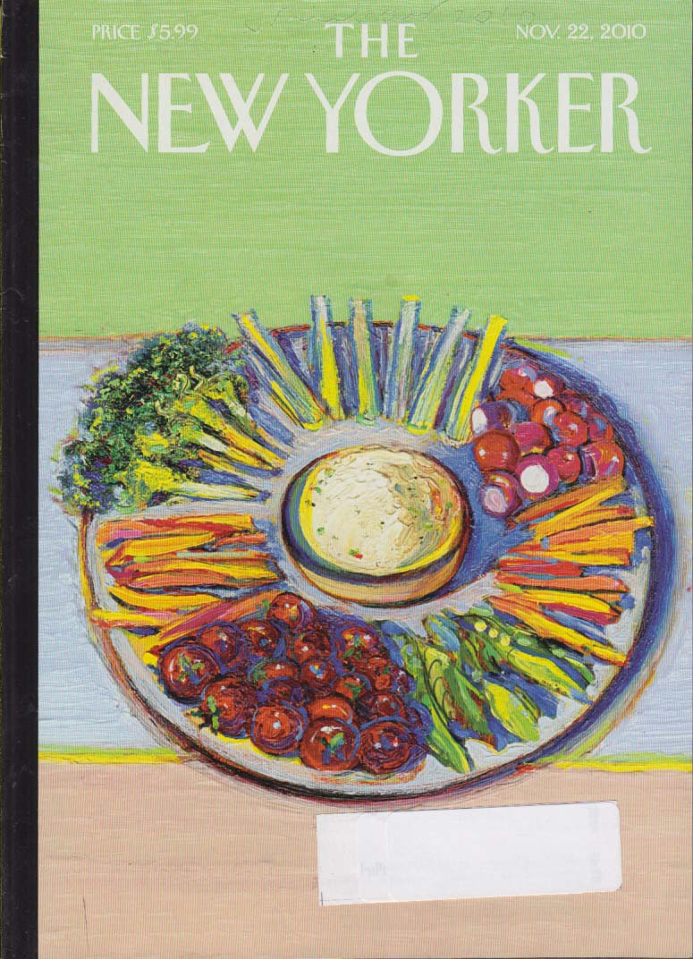 Image for New Yorker cover colorful vegetable Thanksgiving hors d'oeuvre plate 11/22 2010