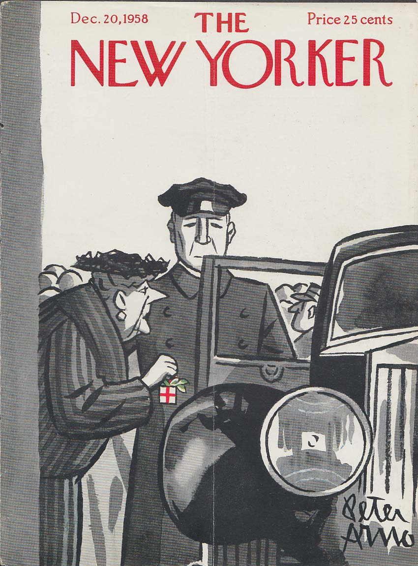 Image for New Yorker cover Arno dowager Christmas box 12/20 1958