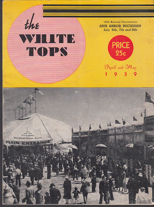 Image for WHITE TOPS Circus Magazine 4-5 1939 Ringling Bros, Clown Rocco Parker & Watts +