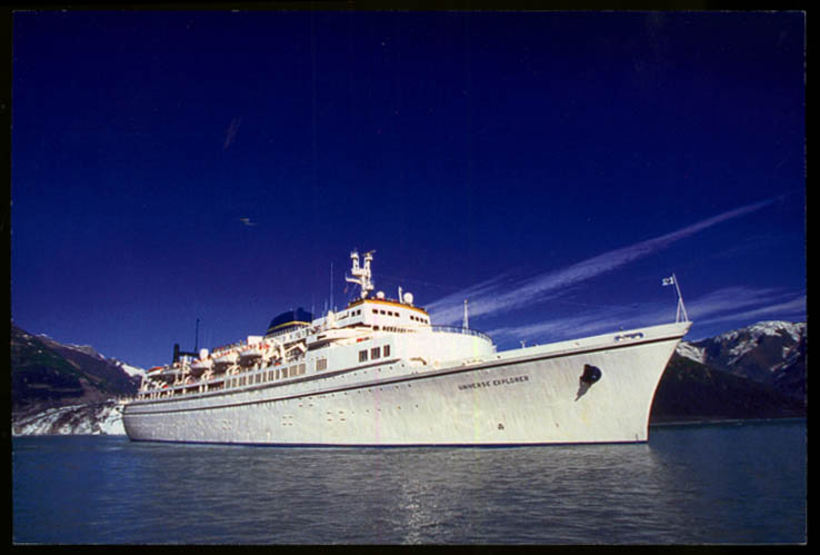 Image for World Explorer Cruises S S Universe Explorer cruise ship jumbo postcard 2002