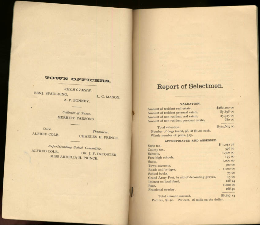 Image for Buckfield Maine Annual Report of Municipal Officers 1892