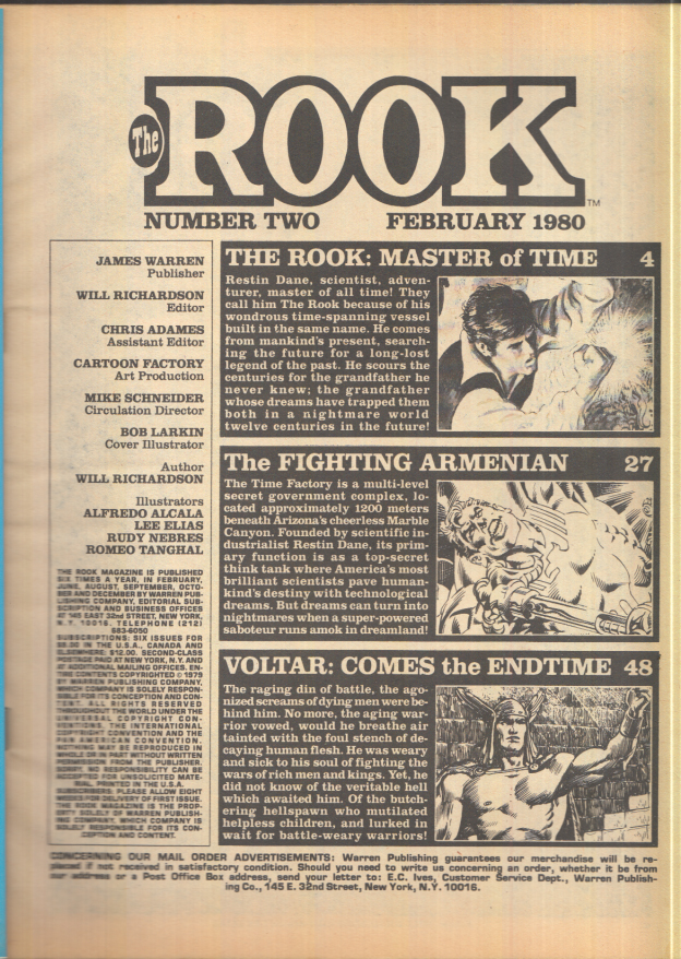 Image for Warren Graphic Novel: THE ROOK #2 February 1980 1st ed