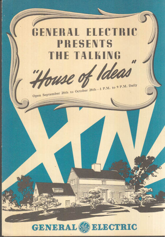 Image for General Electric Presents the Talking House of Ideas folder 1941