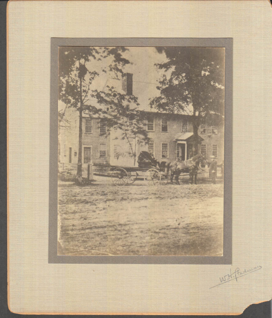 Image for Clem Grandfather Tinker's house Main St N Adams MA mounted photo ca 1900