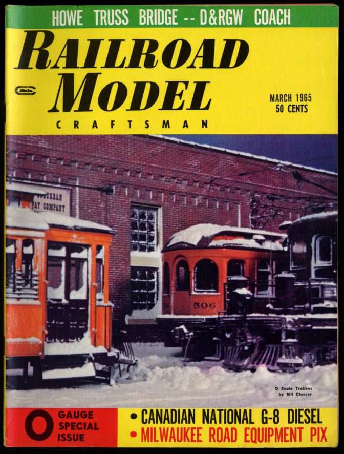 Image for RAILROAD MODEL CRAFTSMAN 3 1965 CN G-8 Diesel D&RGW Coach Milwaukee Rd