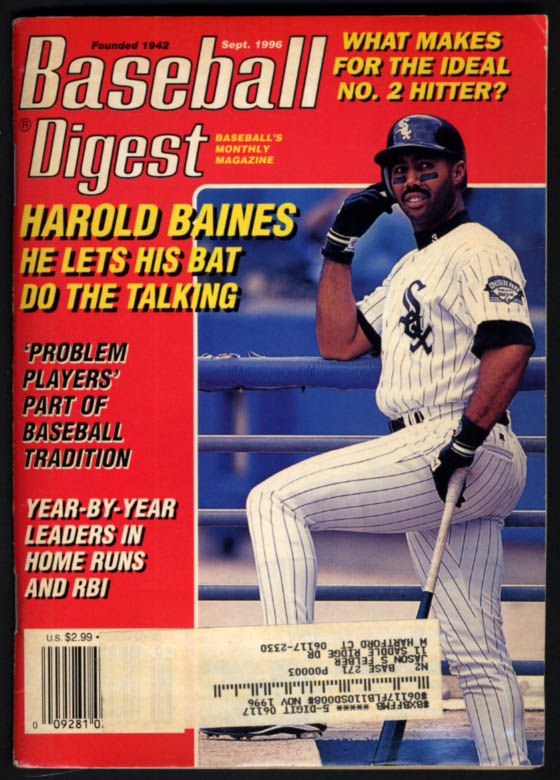 Image for BASEBALL DIGEST 9 1996 Harold Baines Fred McGriff Todd Hundley Alomar Family