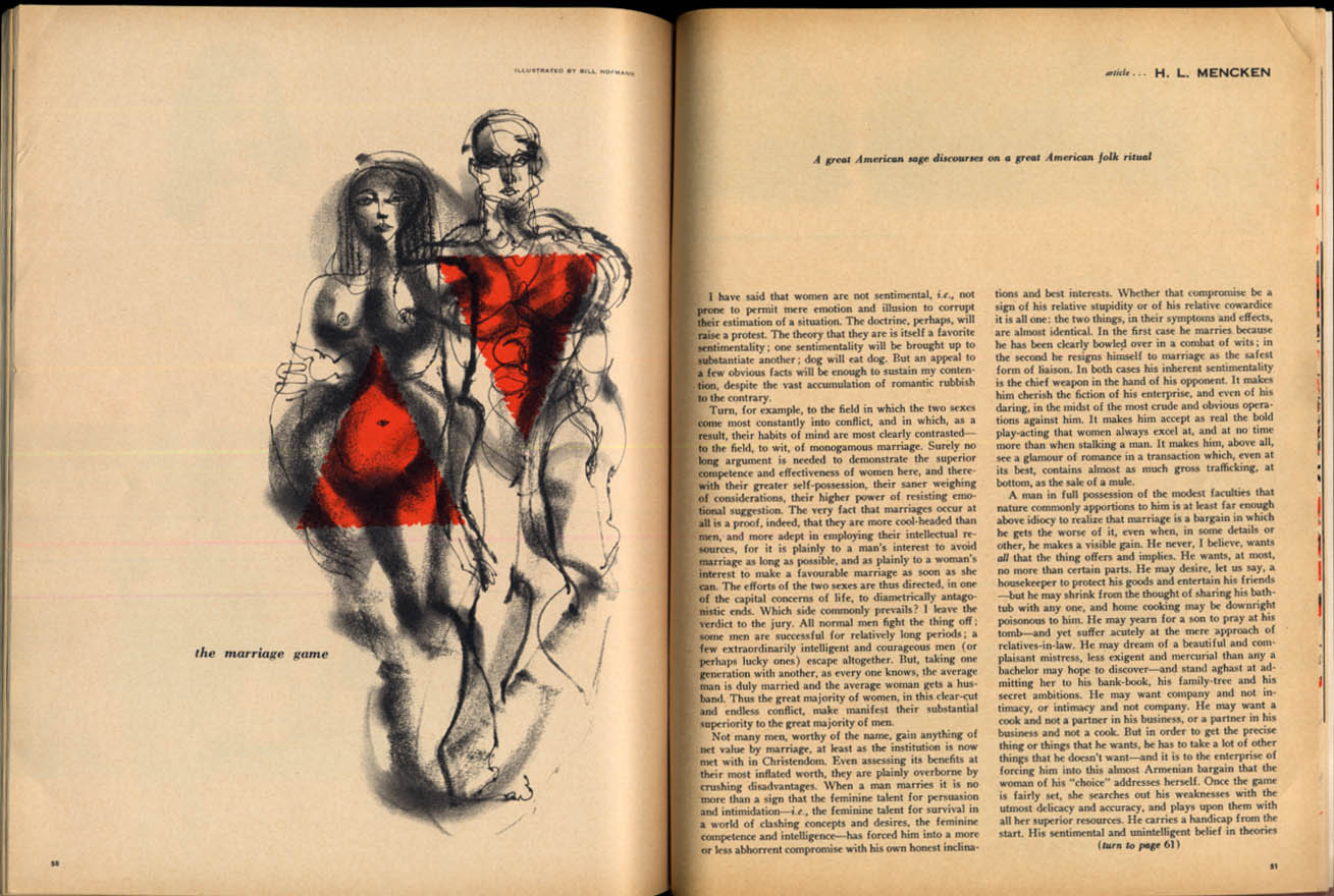 Image for THE DUDE 7 1957 H L Mencken Anna Magnani Jean-Paul Sartre Laura Raymond foldout