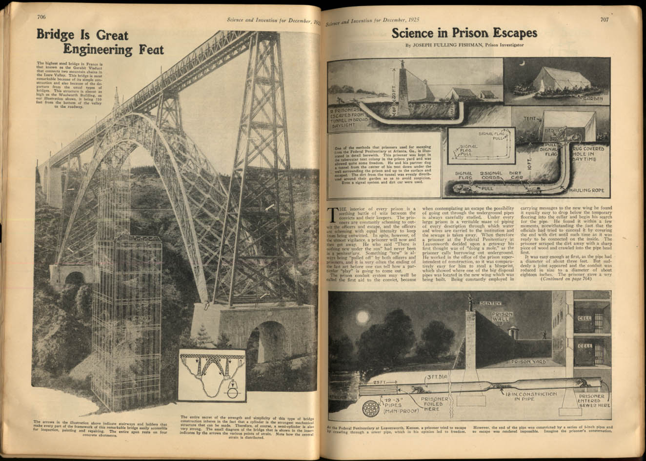 Image for SCIENCE & INVENTION 12 1925 Prison Escapes; Garabit Viaduct; Science Toys