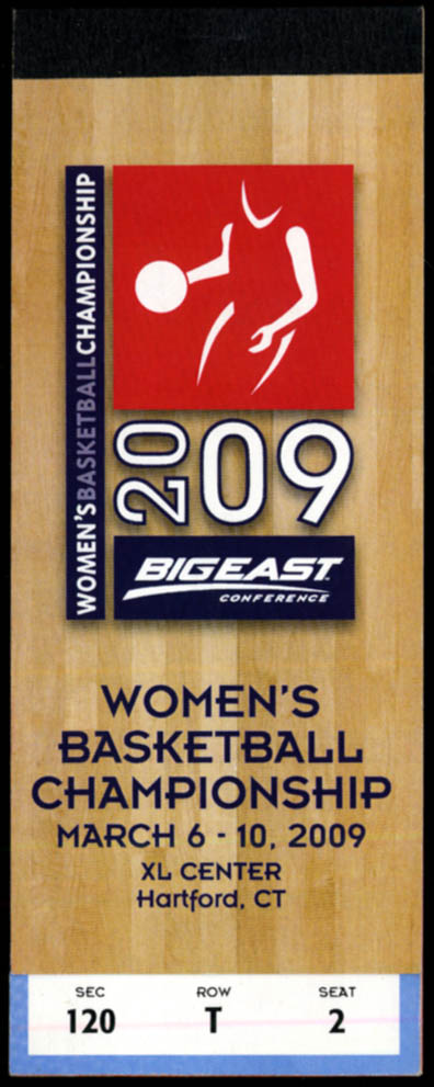 Image for Big East Women's Basketball Championship complete ticket book unused 2009