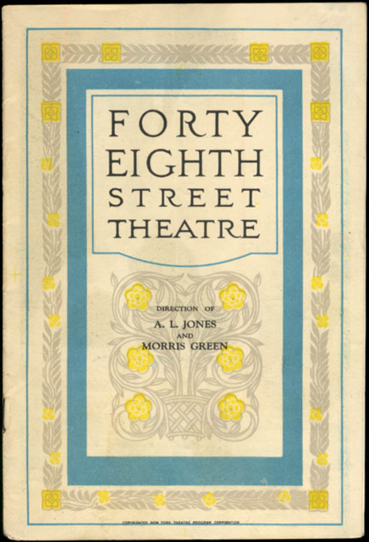 Image for Forty-Eighth Street Theatre program Phillip Barry's Cock Robin 1928