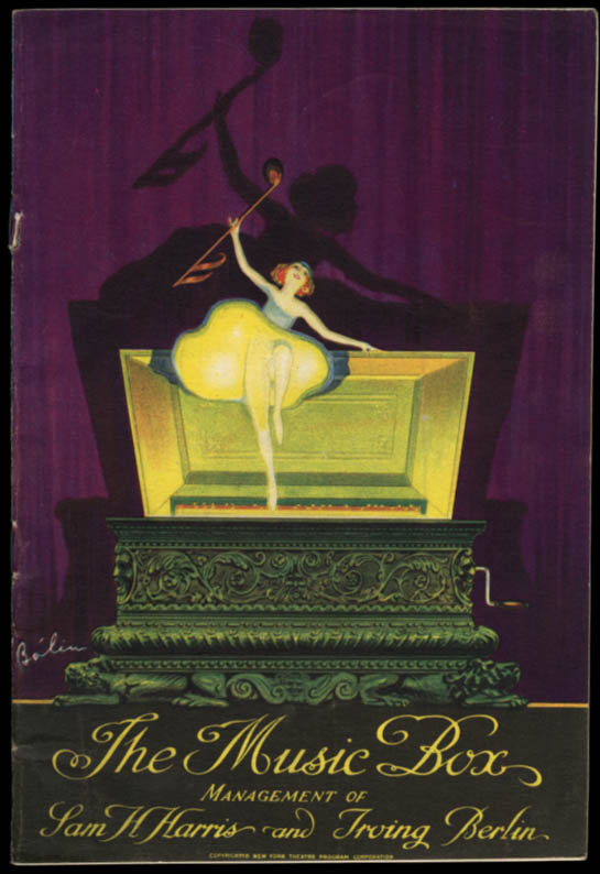 Image for The Music Box theatre program Topaze with Frank Morgan; John Held Jr ad