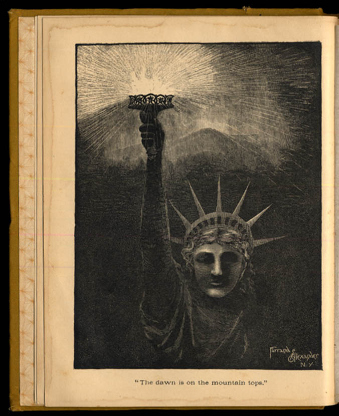Image for Miller Hageman: Statue of Liberty as Delivered at Her Unveiling poetry book 1886