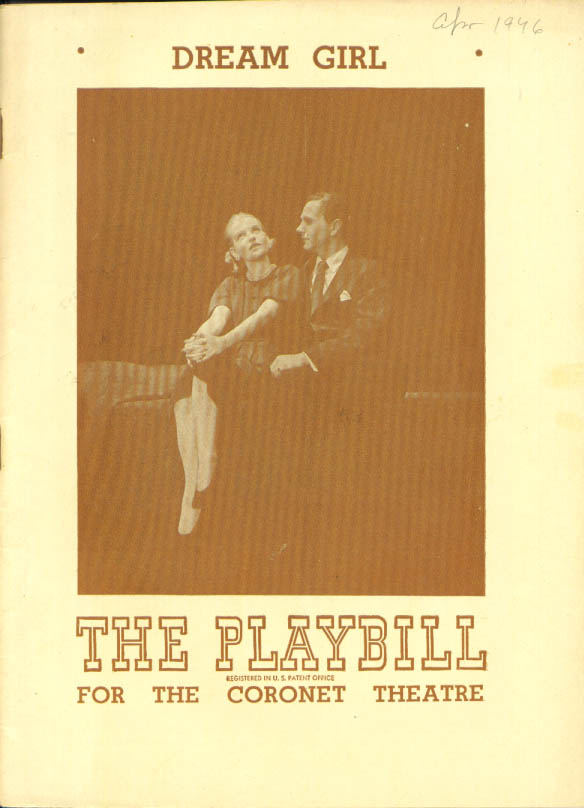 Image for Betty Field Dream Girl Playbill New York 1st run 1946