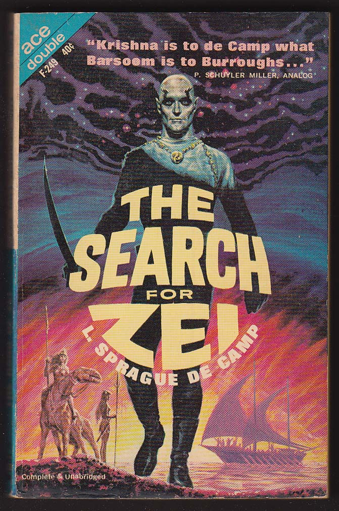 Image for L Sprague de Camp: The Search for Zei / Hand of Zei sci-fi pb 1963