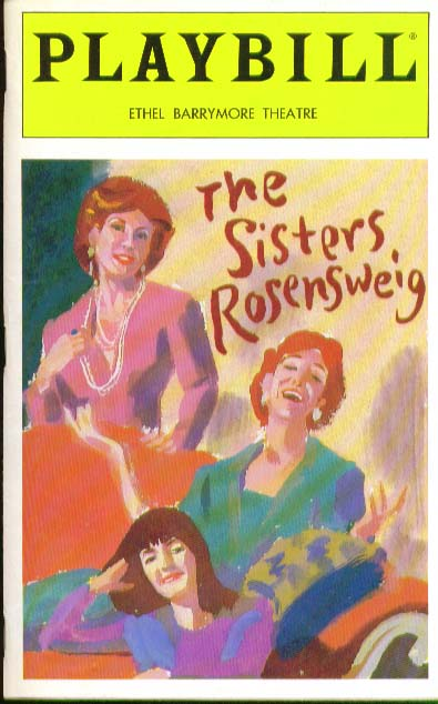 Image for Sisters Rosensweig Playbill 1/94 Michael Learned