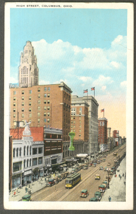 Image for Neil College Grill Mills Store High St Columbus OH postcard 1923
