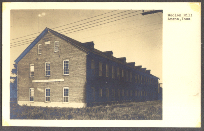 Image for Woolen Mill Building Anama IA RPPC 1940s