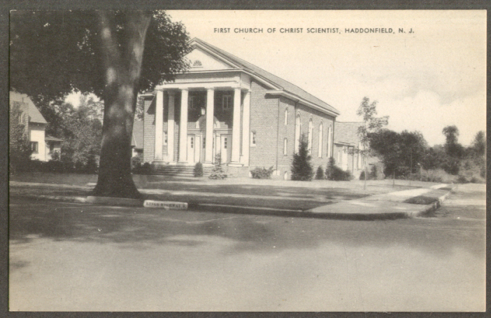 Image for First Church of Christ Scientist Haddonfield NJ postcard 1950s