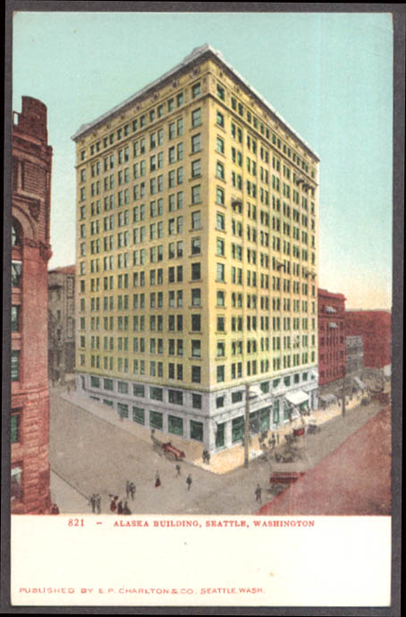 Image for The Alaska Building in Seattle WA undivided back postcard 1900s