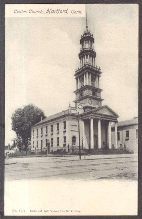 Image for Center Church in Hartford CT postcard ca 1905 undivided back