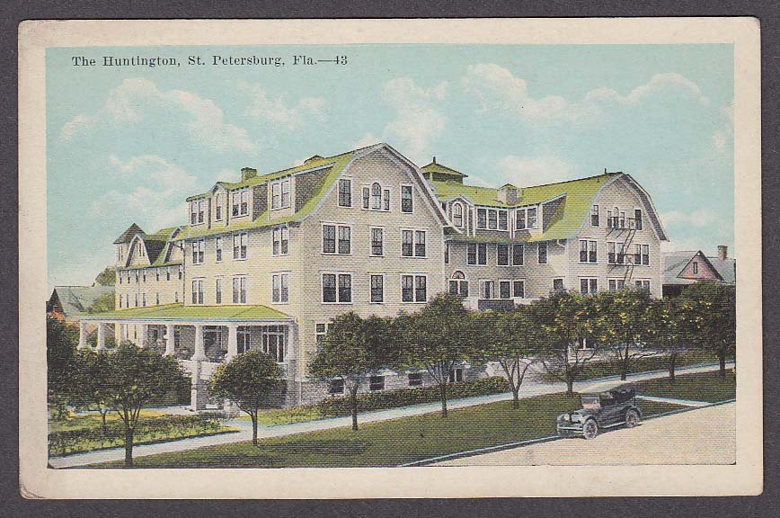 Image for The Huntington St Petersburg FL postcard 1910s