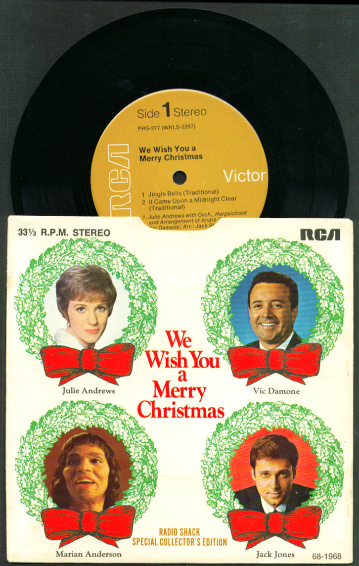 Image for Julie Andrews Vic Damone ++ Radio Shack Merry Christmas 33rpm record 1968