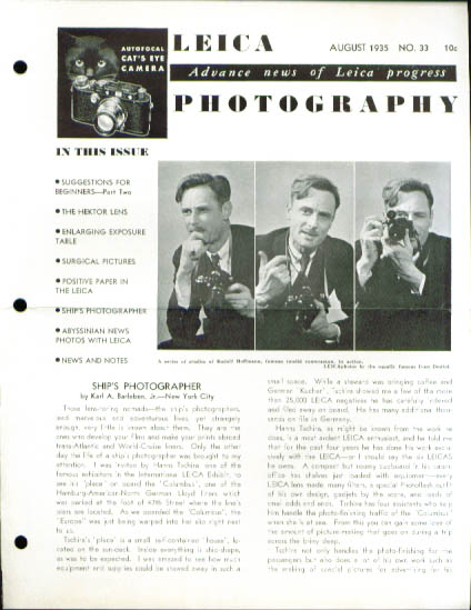 Image for Leica Photography magazine 8 1935