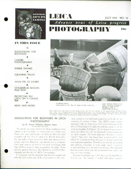 Image for Leica Photography magazine 7 1935