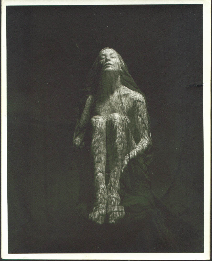 Image for Blonde nude entirely wrapped in lace studio 8x10 50s