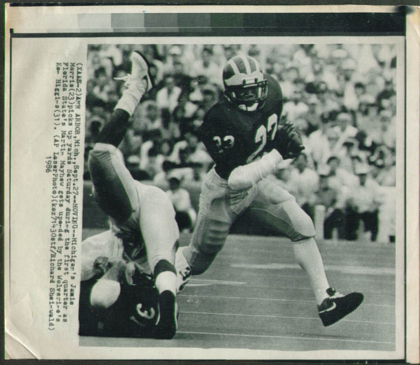 Image for Michigan's Jamie Morris v Florida State photo 1986