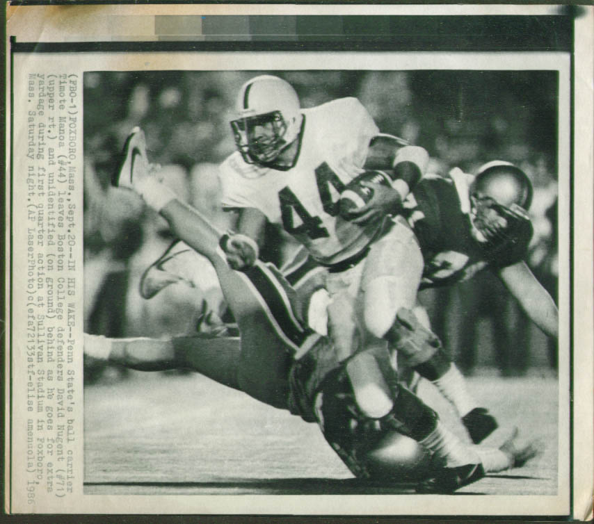 Image for Penn State's Timote Manoa v BC's Nugent photo 1986
