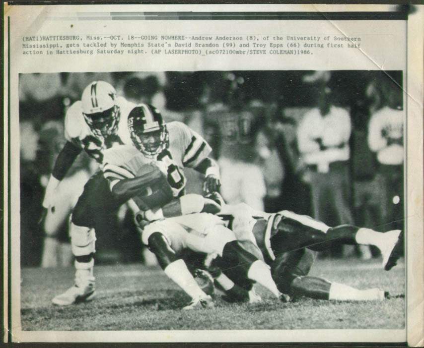 Image for Southern Mississippi Anderson v Memphis State photo '86