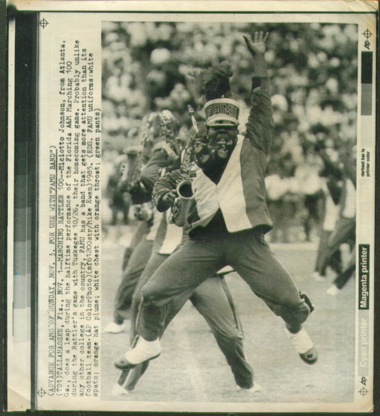 Image for Florida A&M Marching 100 Miciotto Johnson photo 1985