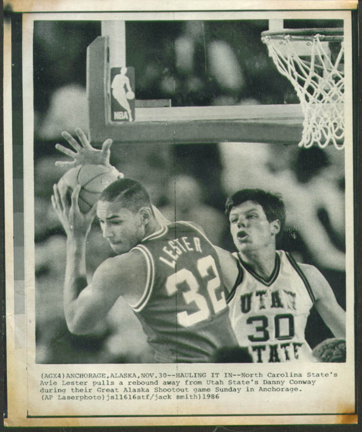 Image for NC State's Avie Lester v Utah State's Conway photo 1986