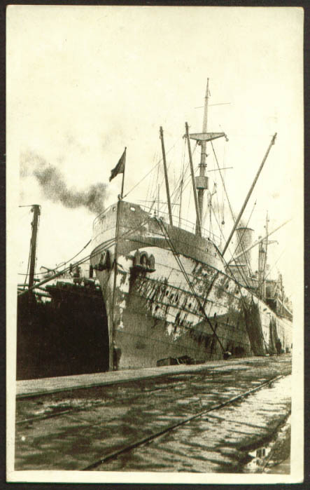 Image for Prow S S Santa Olivia St Nazaire France RPPC 1910s
