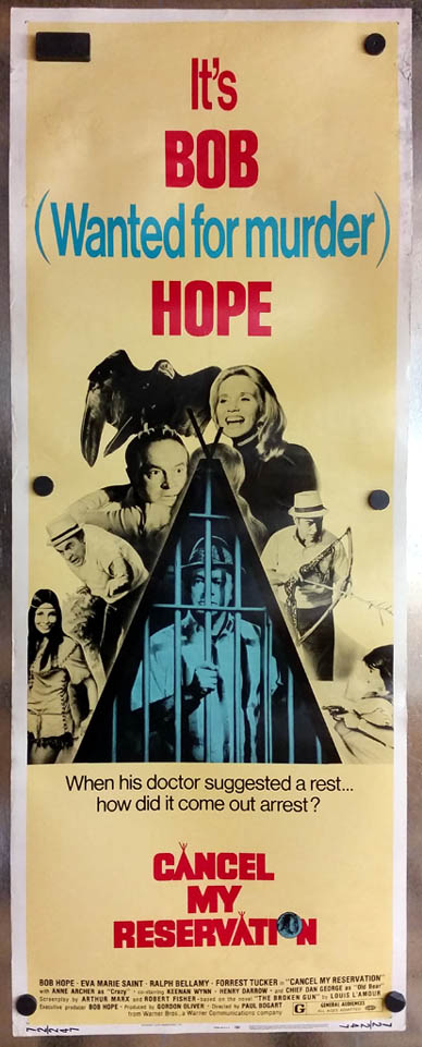 Image for Cancel My Reservation movie lobby poster 1972 Bob Hope Eva Marie Saint