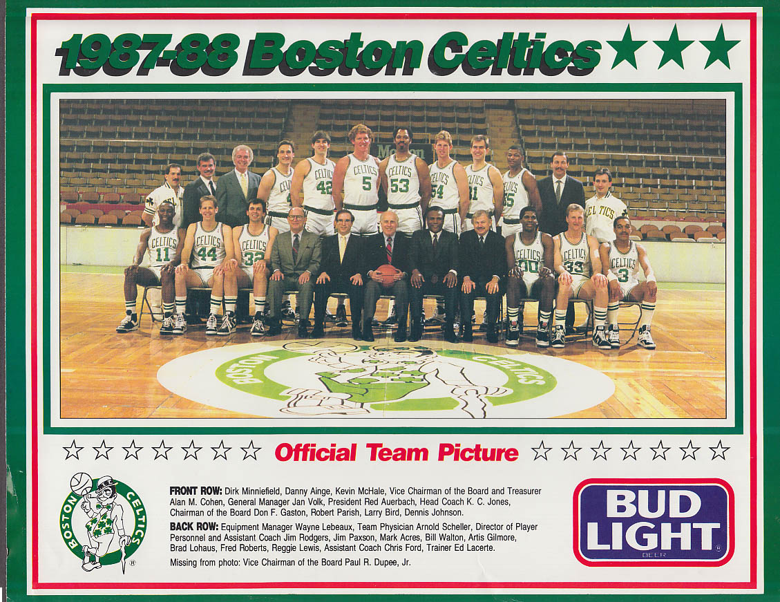 Image for 1987-1988 Boston Celtics Official Bud Light Team Picture